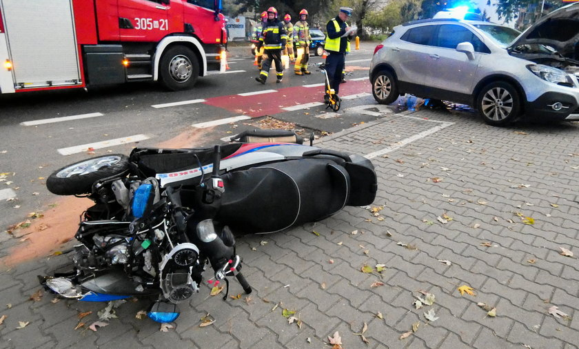 """W wypadku ranny został znany ratownik Marcin """"Borkoś"""" Borkowski."""