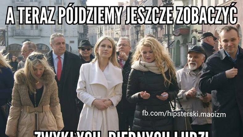 Magdalena Ogórek pnie się w sondażach. Nic w tym dziwnego, wszak kandydatka na prezydenta robi co może, by zdobyć serca Polaków.