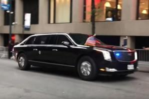 """""""MASIVNO ČUDOVIŠTE LEPIH LINIJA"""" Tramp ima NOVU MOĆNU ZVER od limuzine i upravo je pokazao celom svetu (VIDEO)"""