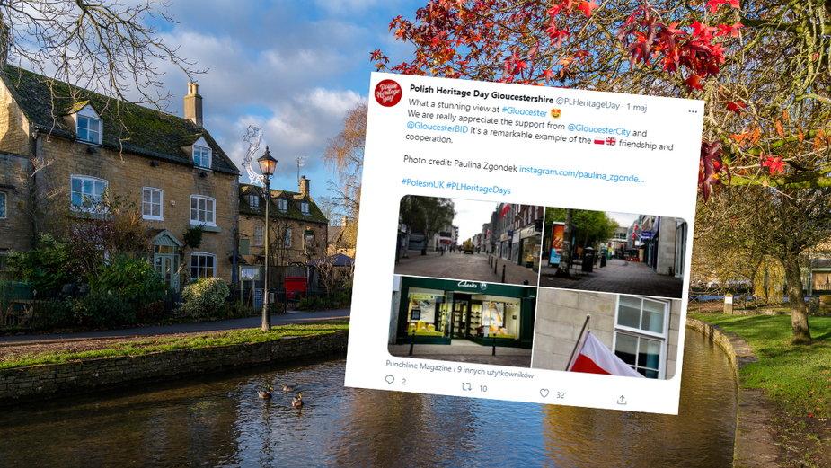W hrabstwie Gloucestershire wywieszono polskie flagi z okazji Polish Heritage Days