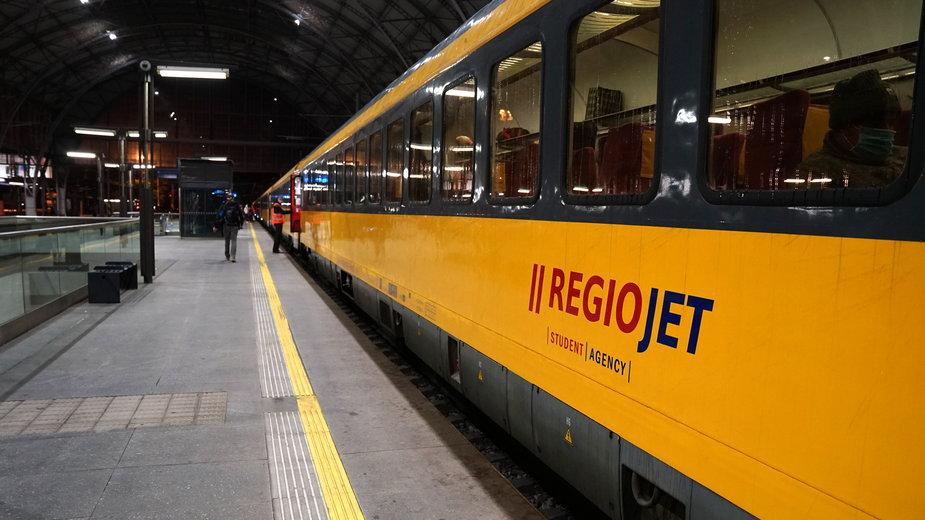 Pociąg należący do RegioJet