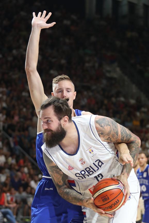 Miroslav Raduljica u dresu reprezentacije Srbije