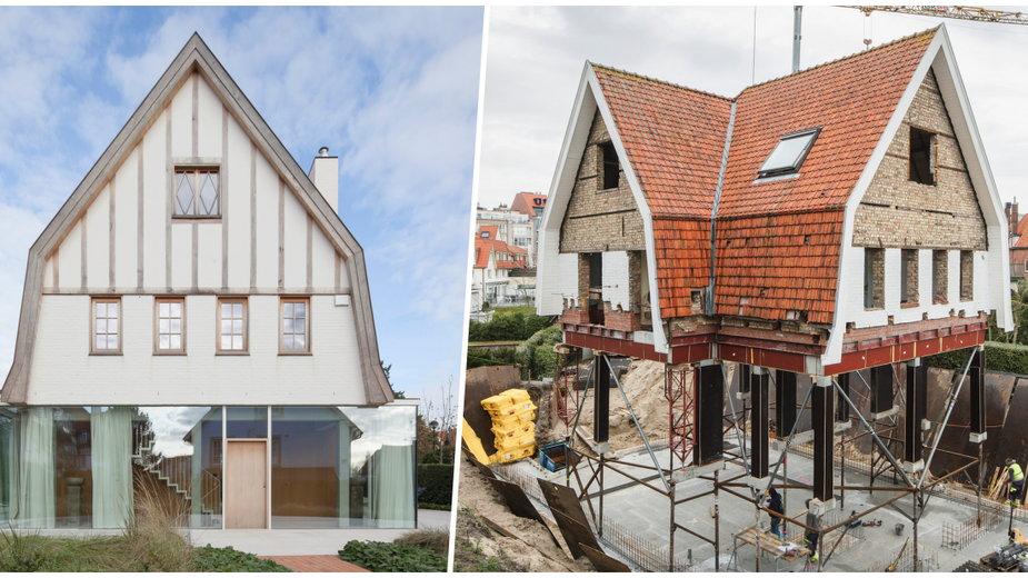 Stary dom z nowoczesnym przyziemiem. Odważna renowacja z Belgii