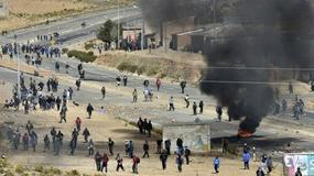 Wiceszef MSW Boliwii śmiertelnie pobity przez strajkujących górników