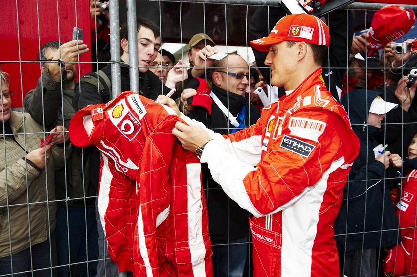 Schumacher nie reaguje na bodźce