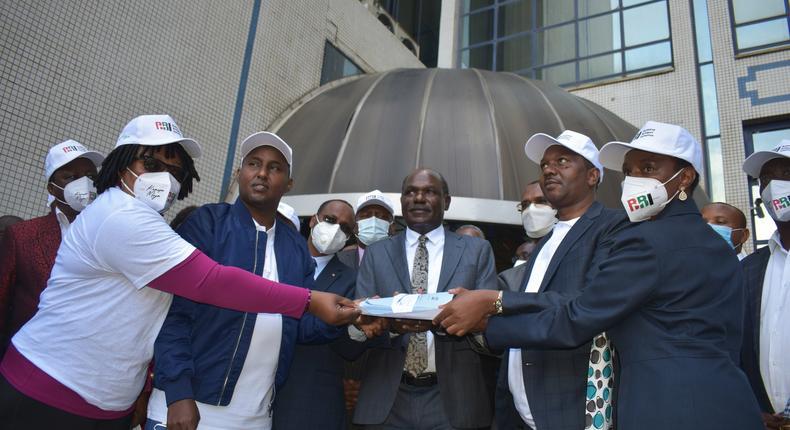 BBI secretariat submits 4.4 million signatures to IEBC, down from initial 5.2 million