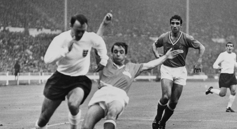 Former England striker Jimmy Greaves (left) has died at the age of 81 Creator: STRINGER