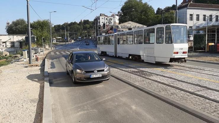 karađorđeva ulica otovrena za saobraćaj
