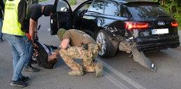 Uderzył w auto straży granicznej. Miał wyjątkowego pecha...