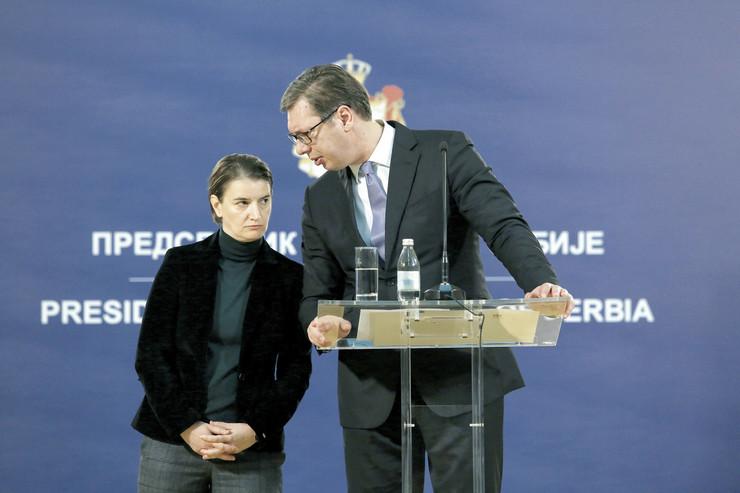 Ana Brnabić, Aleksandar Vučić