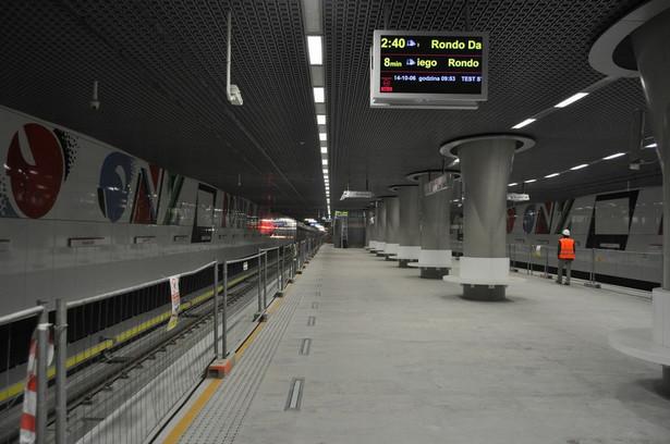 Stacja C10 Rondo ONZ fot. metro.waw.pl