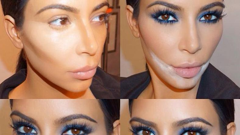 Kim Kardashian's new face chart by make up artist Mario Dedivanovic