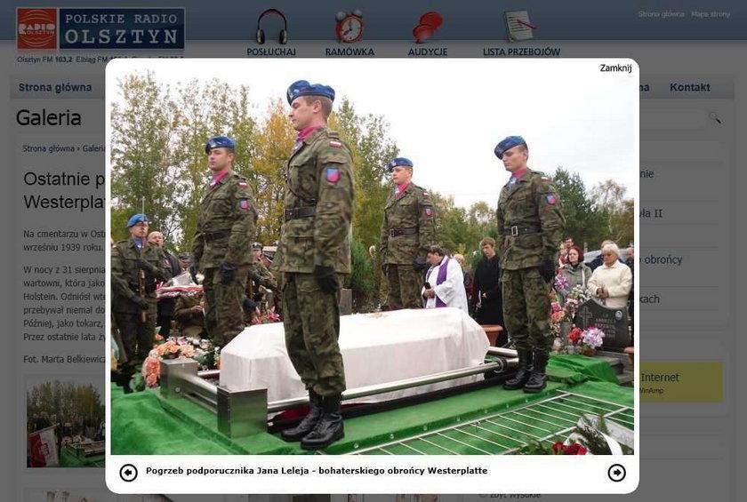 Pogrzeb obrońcy Westerplatte