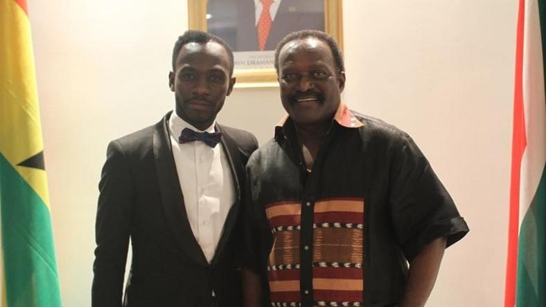 Kwesi Ahwoi (Left) and Okyeame Kwame (Right)
