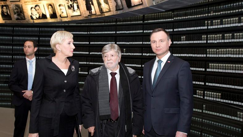 Andrzej Duda, Agata Kornhauser-Duda i Szewach Weiss