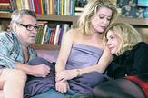 """Miloš Forman kao glumac sa Katrin Denev i Kjarom Mastrojani u filmu """"Beloved"""" iz 2011."""