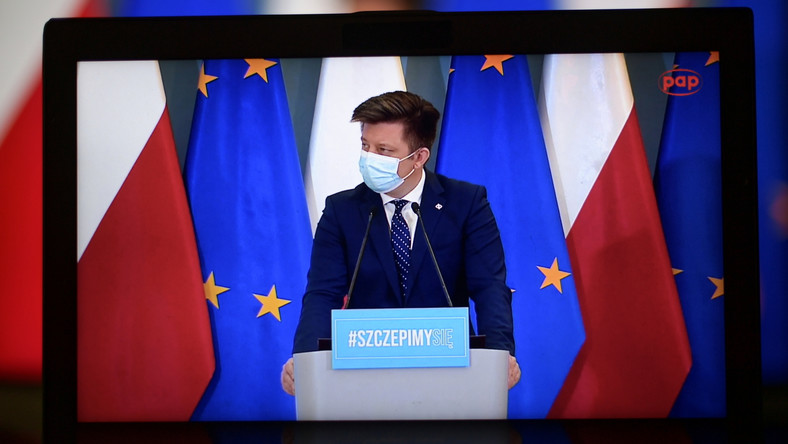 Szef KPRM, pełnomocnik rządu ds. szczepień przeciwko Covid-19 Michał Dworczyk