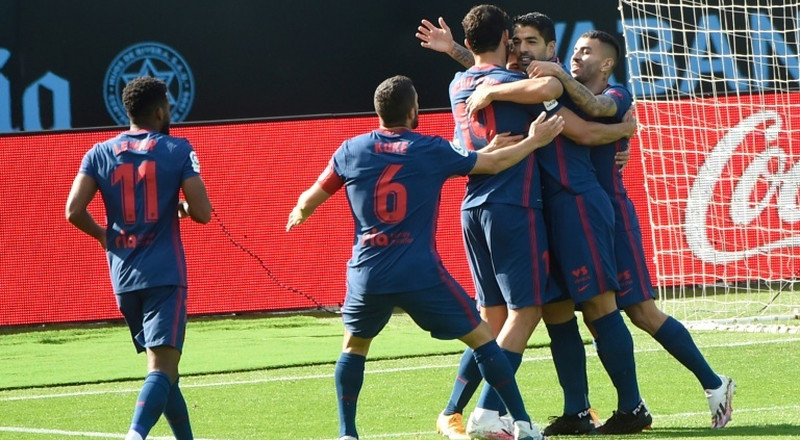 Suarez leads Atletico to Celta win but Costa injured ahead of Bayern test