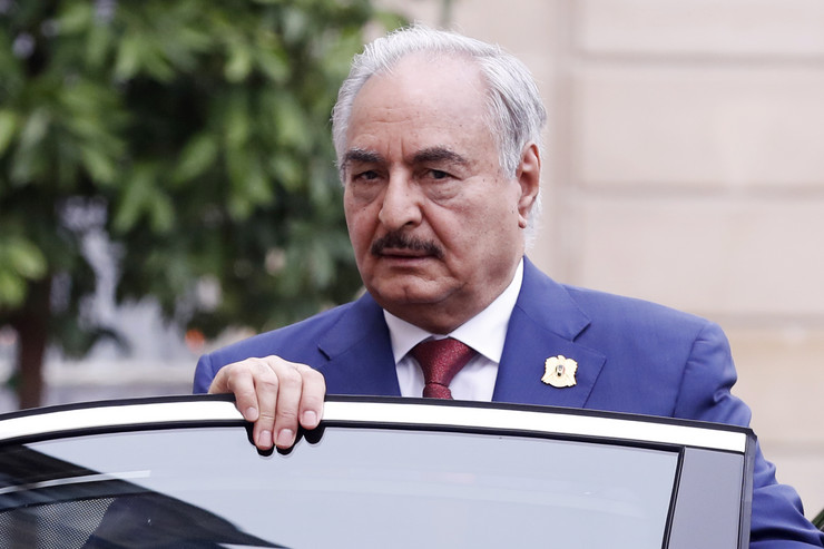 Kalifa Haftar EPA ETIENNE LAURENT