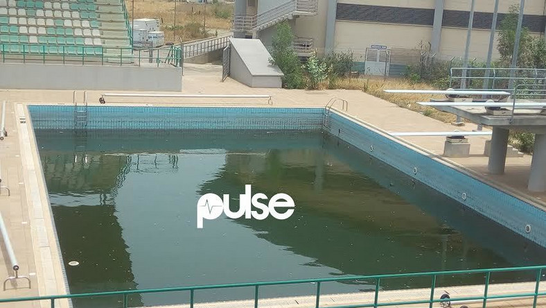 18ft swimming pool at the Abuja National Stadium