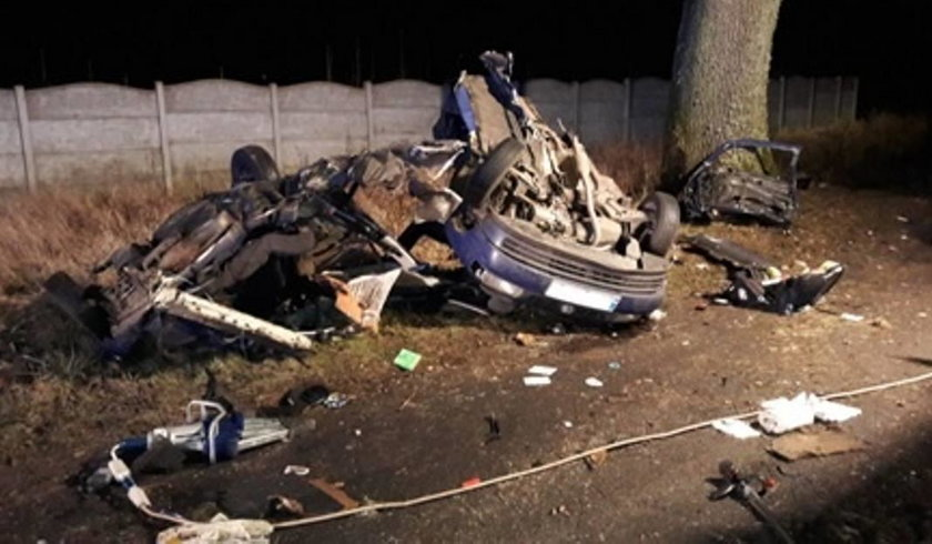 Wypadek  w Borzyszewie niedaleko Gryfic
