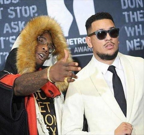 Burna Boy and AKA when the going was good. (1st News)