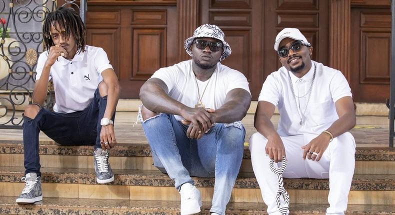 Kenyan musicians Krispah Khaligraph Jones and Boutross