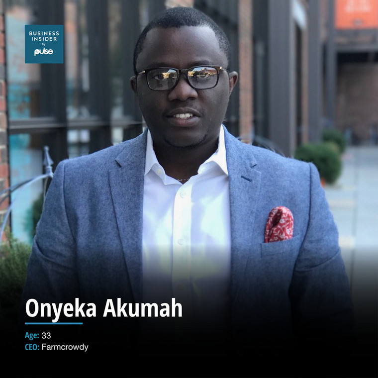 Onyeka Akumah is the founder of Farmcrowdy,