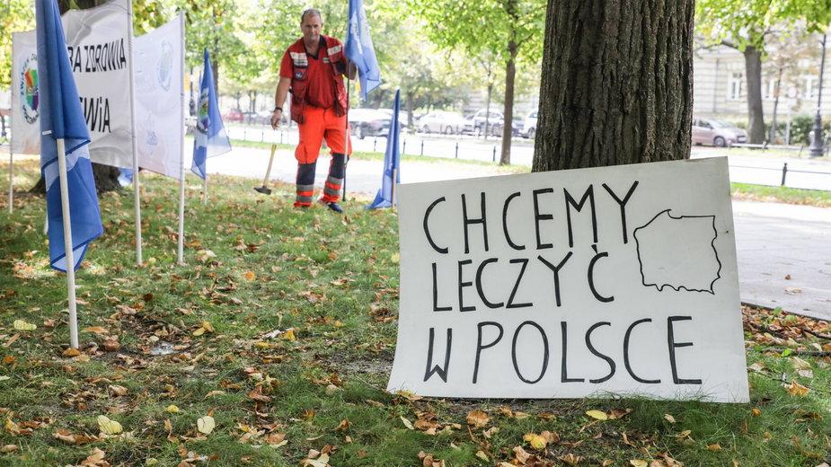 Protest medyków w Warszawie. (Zdjęcie ilustracyjne)