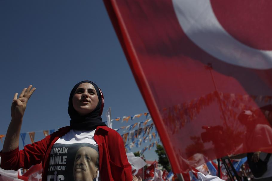 Turkey's President Recep Tayyip Erdogan Campaign Rally Ahead Of Election