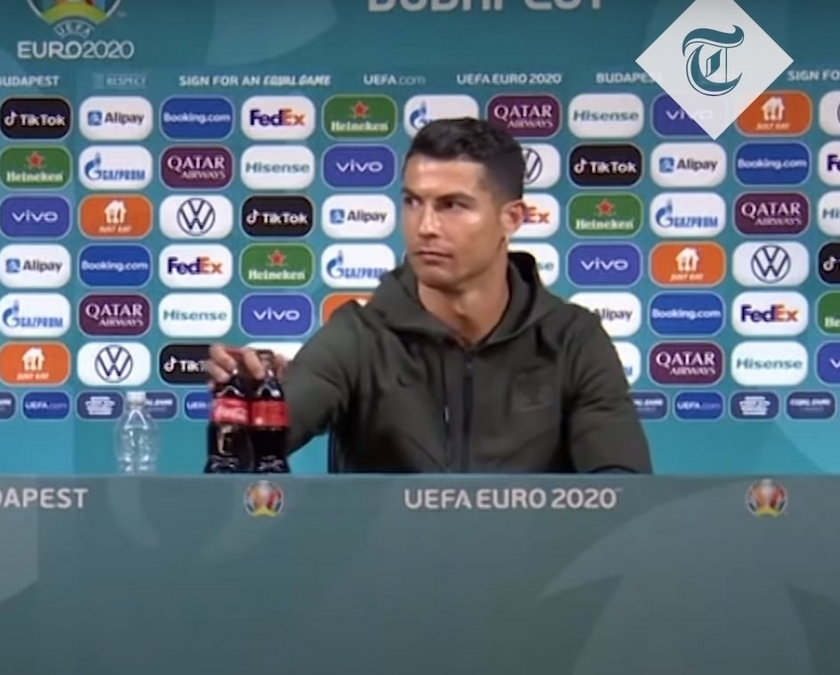 Wcześniej na Euro butelki Coca-Coli zdjął ze stołu Cristiano Ronaldo