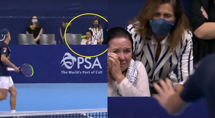 Giron pogađa ženu u publici