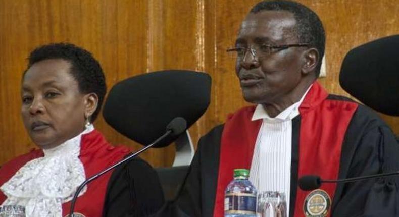 Chief Justice David Maraga (right) and DCJ Philomena Mwilu (left)