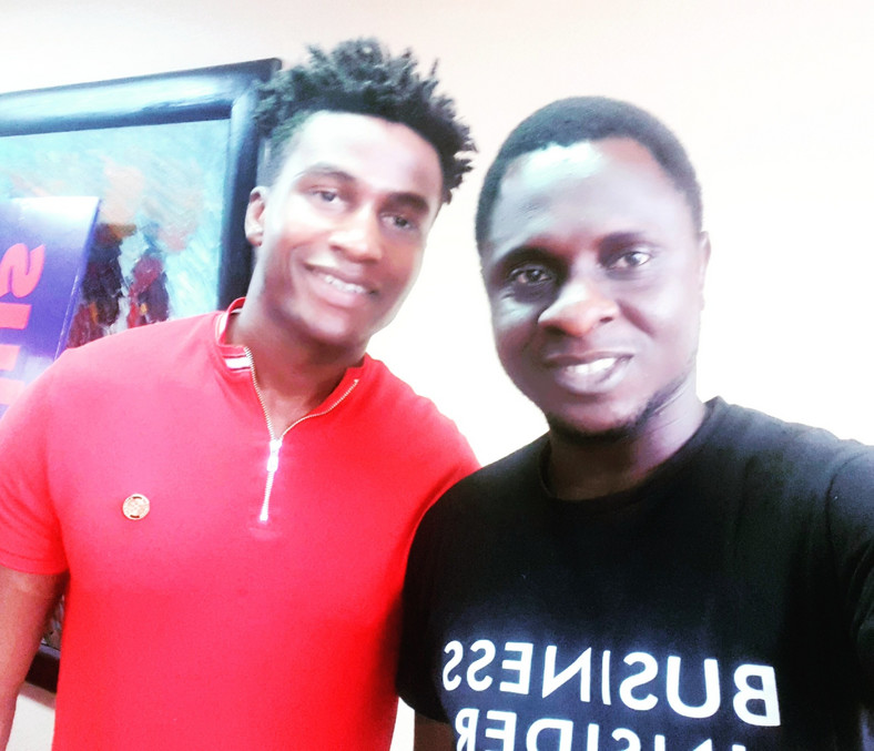 Silas Adekunle, CEO of Awarri and Aderemi Ojekunle, senior reporter at Business Insider SSA take selfie after an interview session