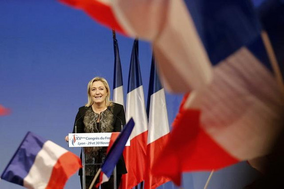 Nikad veća podrška uoči izbora:Marin Le Pen, lider