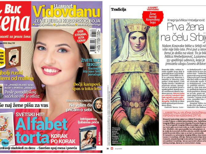 """Žene heroji Kosovskog boja: U novoj """"Blic ženi"""" na više strana po istoj ceni pregršt lepog i zanimljivog"""