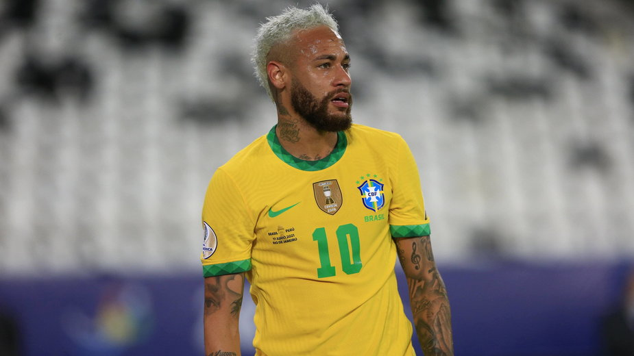 Neymar w trackie meczu z Peru