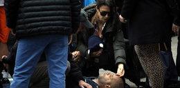 Dramatyczny moment. Żona gwiazdora ratuje człowieka