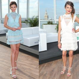 Klaudia Halejcio i Maja Hyży w takich samych sukienkach na jednej imprezie
