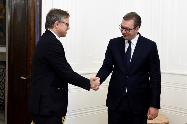 Aksel Ditman i Aleksandar Vučić
