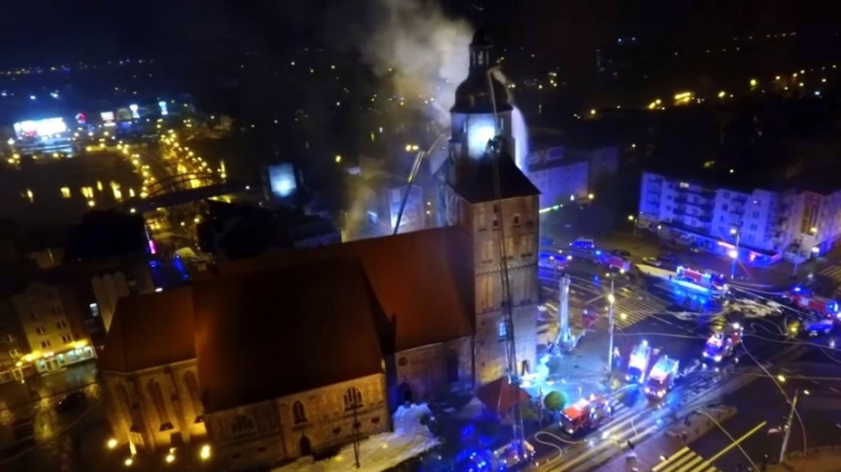 Pożar katedry w Gorzowie - 1 lipca 2017 r.
