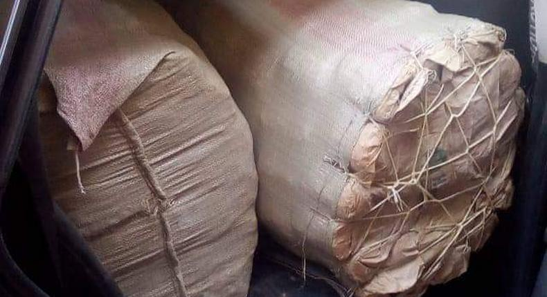 2 arrested as Police nab Sh3.5 million worth of Bhang in Embu (Courtesy)
