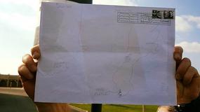 Na kopercie zamiast adresu była mapa. To nie zniechęciło listonosza