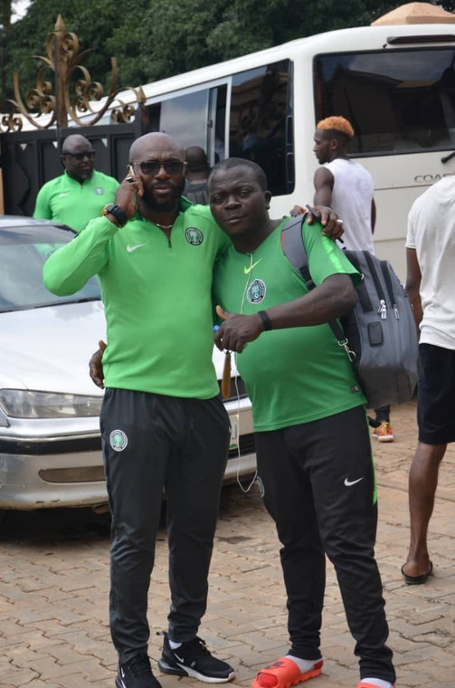 Imama Amapakabo is in charge of the Olympic Eagles (Twitter/NFF)
