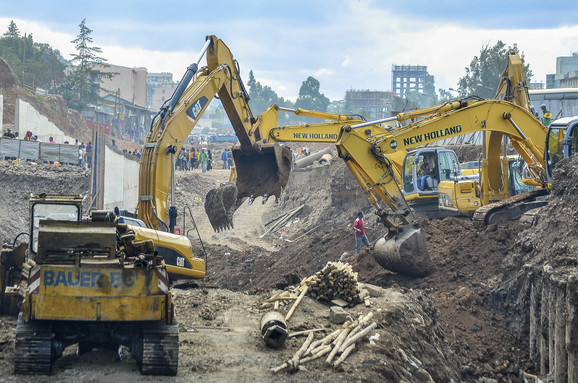 izgradnja železničke pruge u Etiopiji