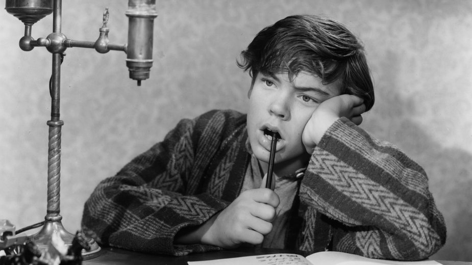 "Bobby Driscoll w filmie ""When I Grow Up"" z 1951 r."