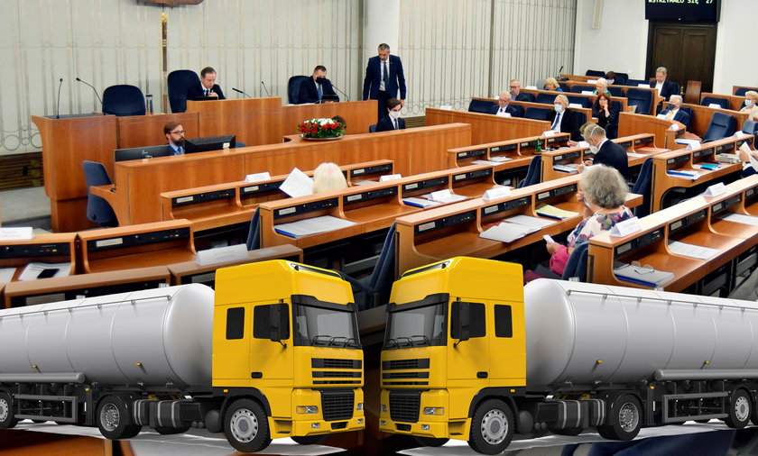 Senat kupuje tyle paliwa, że mogłoby się ono zmieścić w trzech wielkich cysternach