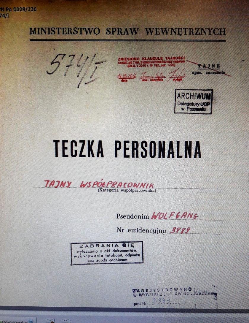 """Kilka tygodni temu wyszło na jaw, że Andrzej Przyłębski był TW """"Wolfgang"""""""