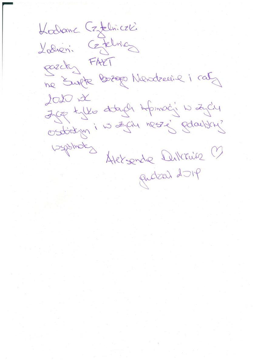 życzenia Aleksandry Dulkiewicz