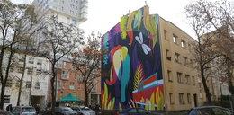 Słonica na muralu